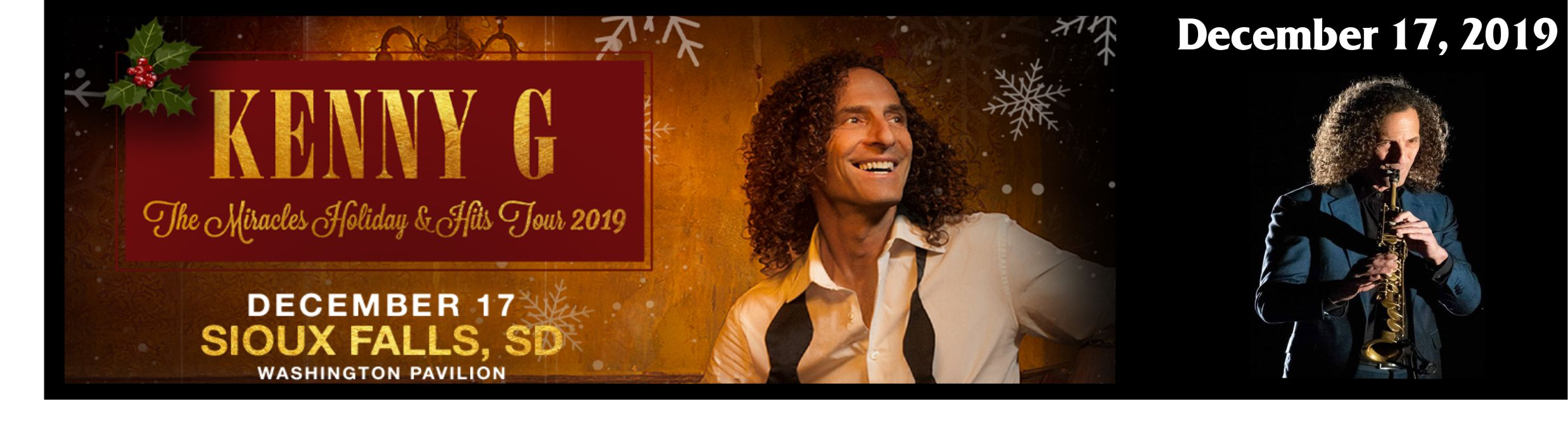 Kenny G Christmas.Kenny G The Miracles Holiday Hits Tour 2019 Montam